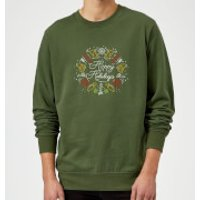 Hoppy Holidays Sweatshirt - Forest Green - L - Forest Green